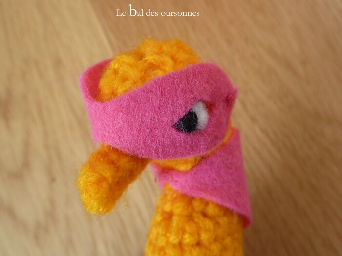 88 Blog Crochet amigurumi Hippocampe Masque