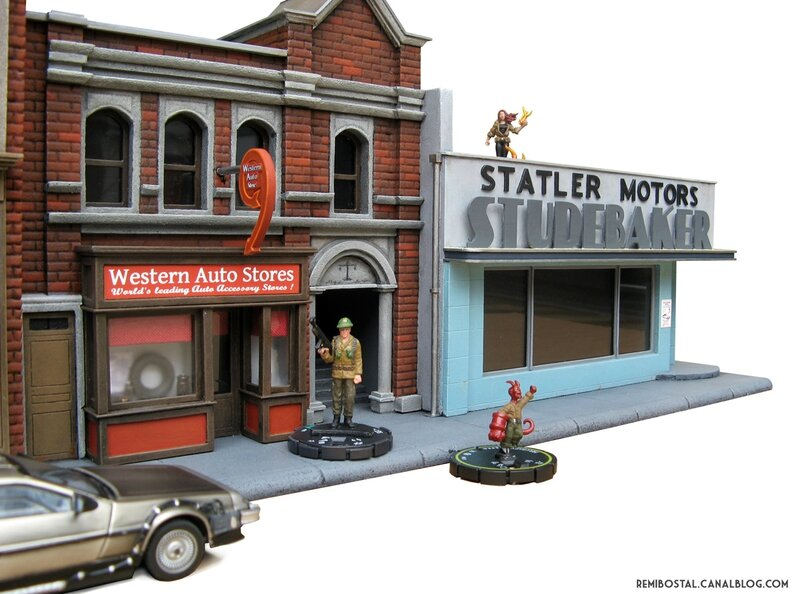 Hill Valley main street part 2 back to the future bttf heroclix remi bostal scenery miniature (5)