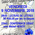 Le 9 novembre 2018, saint-gence commémore la fin de la grande guerre