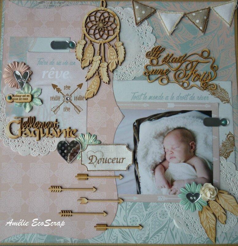 Page Faire de sa vie un rêve Amelie EcoScrap