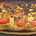 Tartine tomate, thon et fromage
