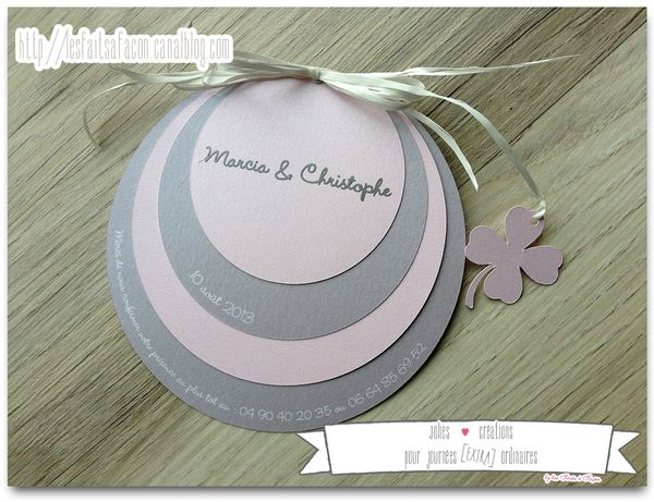 faire_part_rond_gris_rose_trefle