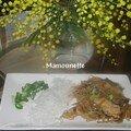 Poulet sauté aux germes de soja, à la ciboule et son vermicelle chinois