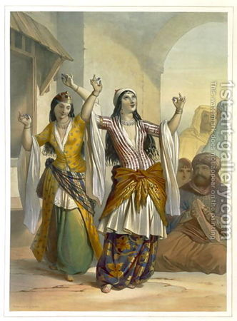 Egyptian_Dancing_Girls_Performing_The_Ghawazi_At_Rosetta__Illustration_From_The_Valley_Of_The_Nile__Engraved_By_Achille_Deveria_1800_57_Pub