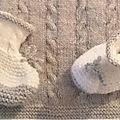 Chaussons 1er âge pour bébé élégant