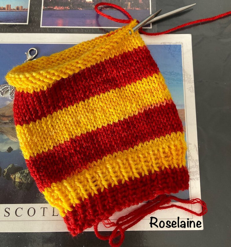 Roselaine Chaussettes Harry Potter Laines Biscottes Tricot Socks 4