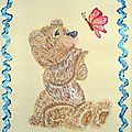 ourson et le papillon