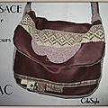 Le sac en cuir qu'il me fallait ..merci le défi !