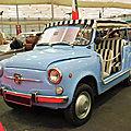 Fiat 600 jolly ghia cabriolet de plage 1962