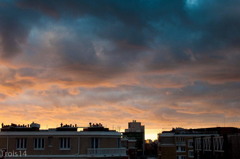 Lever du soleil - Paris