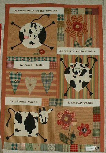 Vaches en folie photo de patchwork catherine tourel cr a - Vache en folie ...