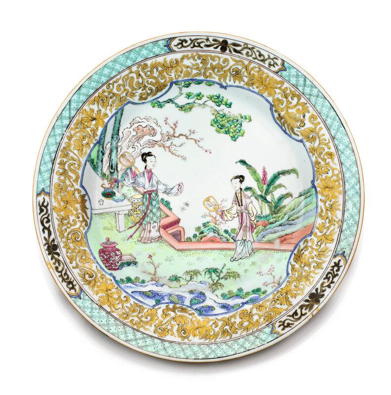Assiette en porcelaine de la Famille Rose, Dynastie Qing, époque Yongzheng (1723-1735)