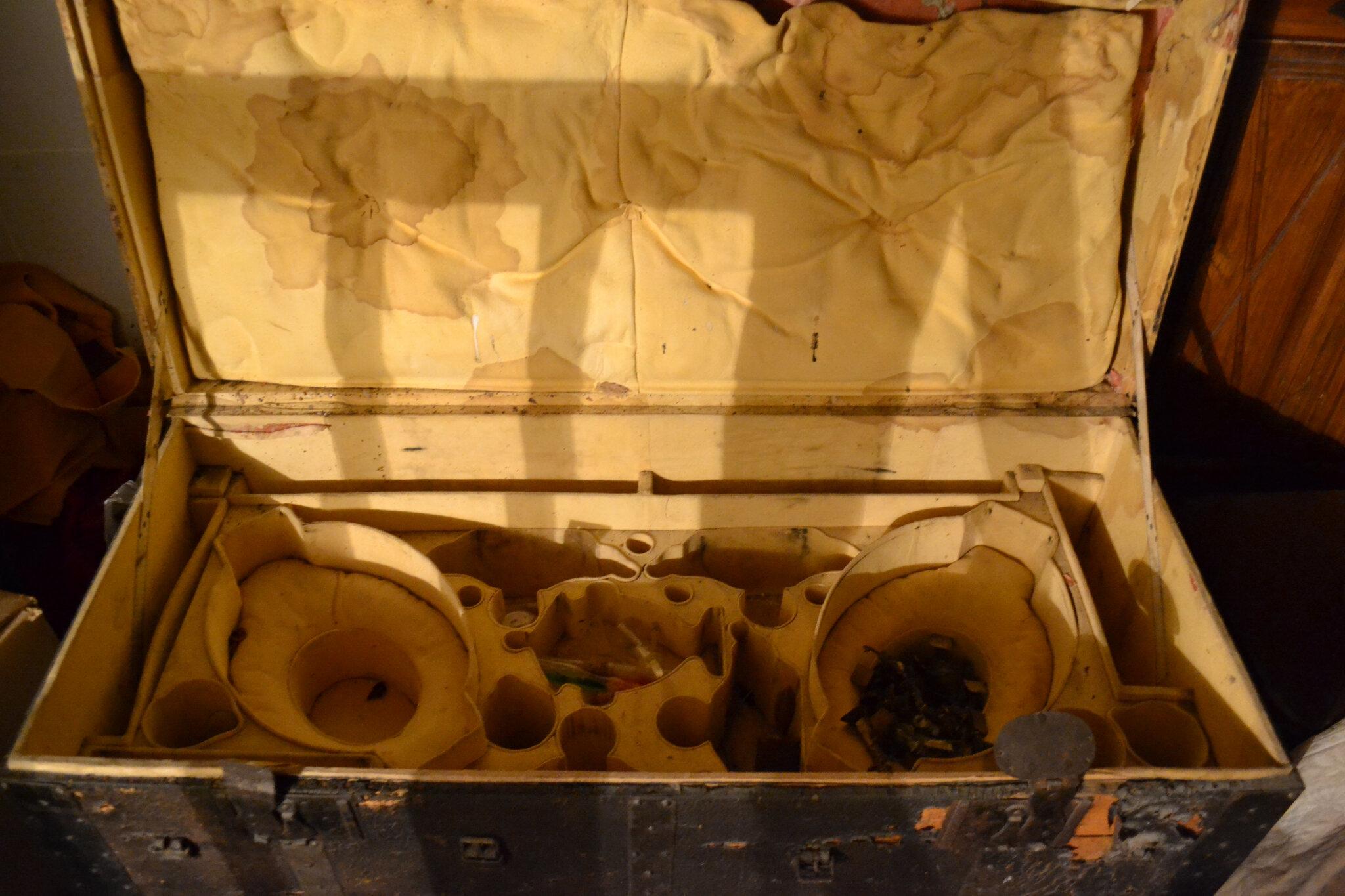 le trésor et dans la boite