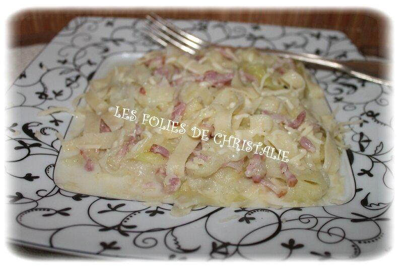 Courgettes carbonara 6