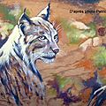 LYNX Peinture sur bois Ghislaine Letourneur 2