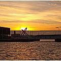 Coucher de soleil au docks du havre