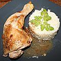 Cuisse de poulet à la cannelle à la plancha
