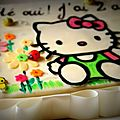 Tiens !! une gâteau hello kitty !!!