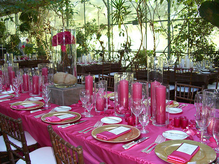 Theme la vie en rose le salon de th le blog d 39 un lys dans l 39 atelier - Decoration table mariage fushia ...