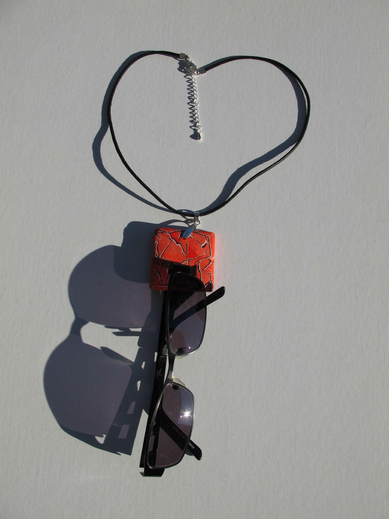 porte lunettes carré rouge WCM lunettes