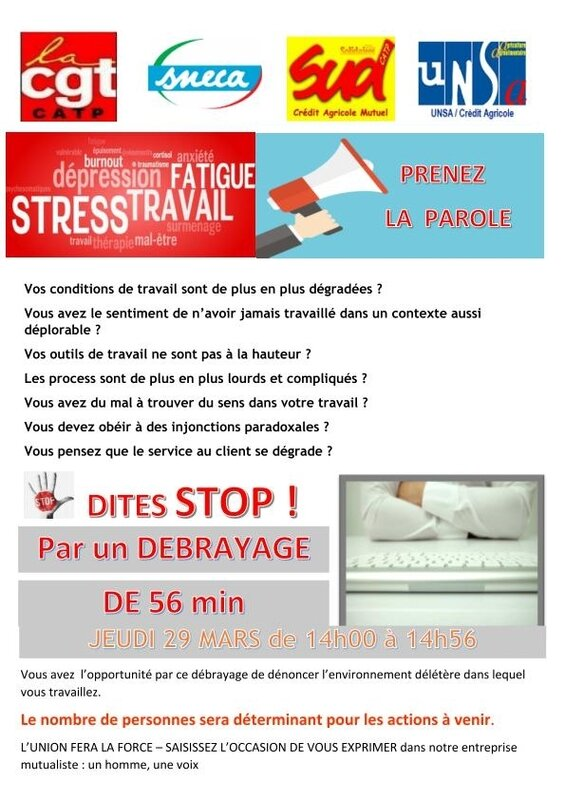 Debrayage inters 29 mars 2018