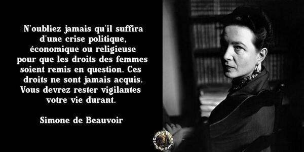 Voter Simone de Beauvoir