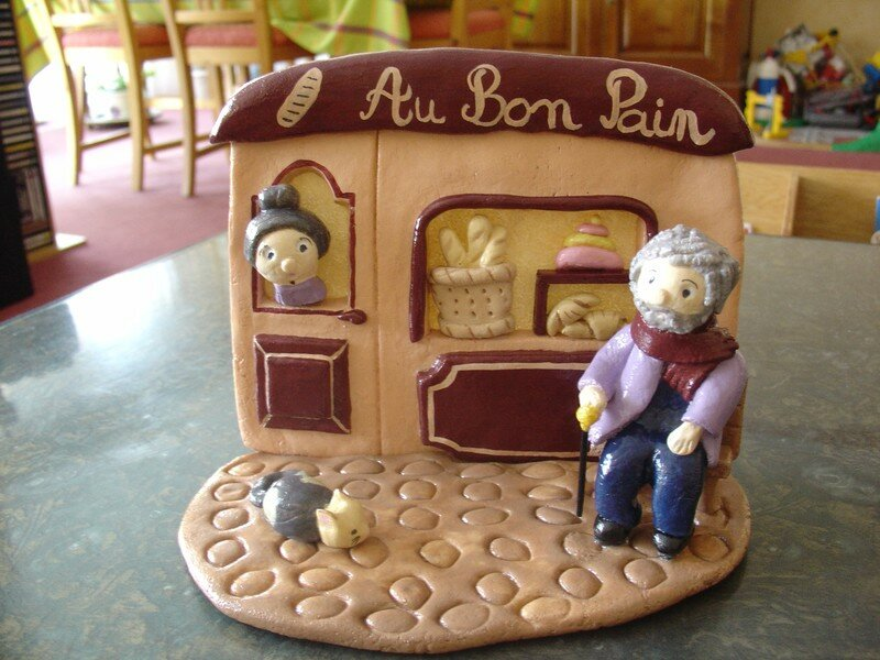 Scène de rue : boulangerie