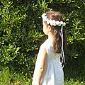 Couronne de fleurs pour petites filles !