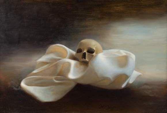 Jean-Claude JANET, Vanité, 1997. Huile sur toile. Signée et datée. 50 x 73 cm