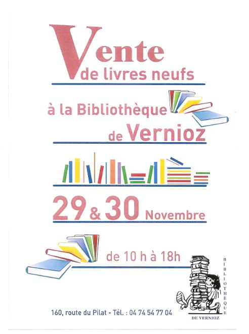 BIBLIOTHEQUE DE VERNIOZ - VENTES LIVRES NEUFS - 29 & 30 NOVEMBRE 2014