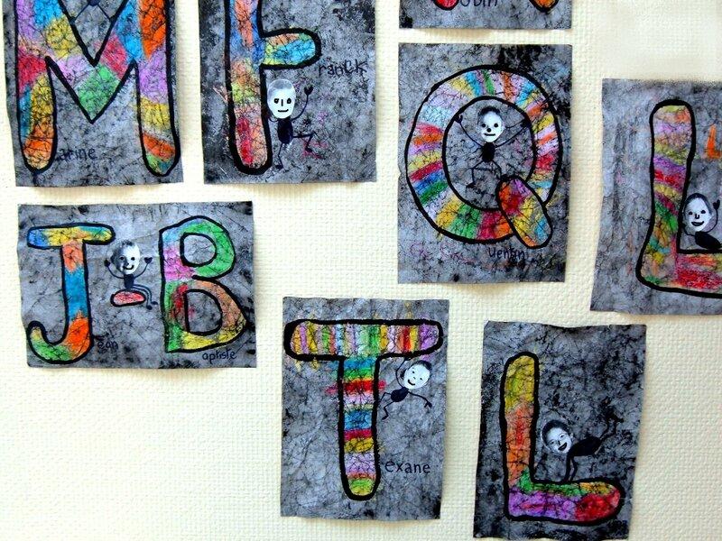 Lettres façon BATIK (25)