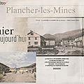 Rubrique ''d'hier à aujourd'hui'' dans le mag er : plancher-les-mines (70)