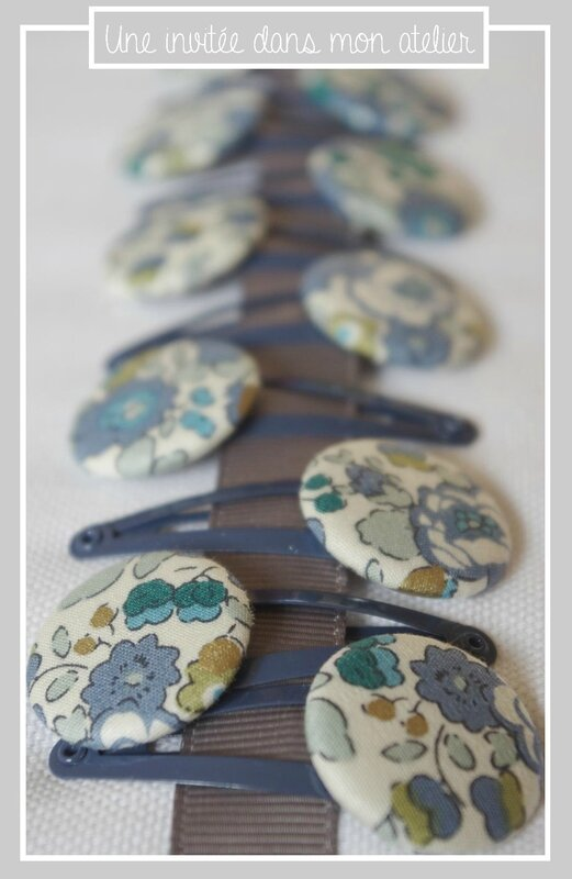 barrettes-Liberty-betsy bleu et doré from Japan