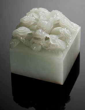 Chinese Emperor S Personal White Jade Dragon Seal Sells