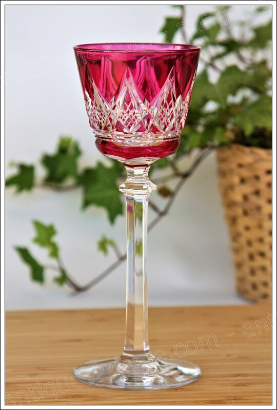 Service verres cristal Baccarat Louvois