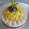 Tarte dacquoise ananas coco