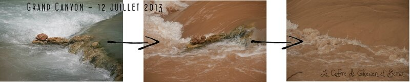 Flash flood au Grand Canyon chez Gloewen et Scrat