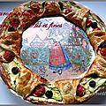 Couronne feuilletée courgette et fromage frais ail et fines herbes