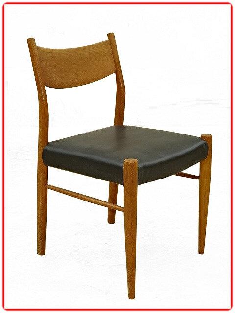 6 chaises scandinaves teck années 1960