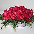 coupelle de roses