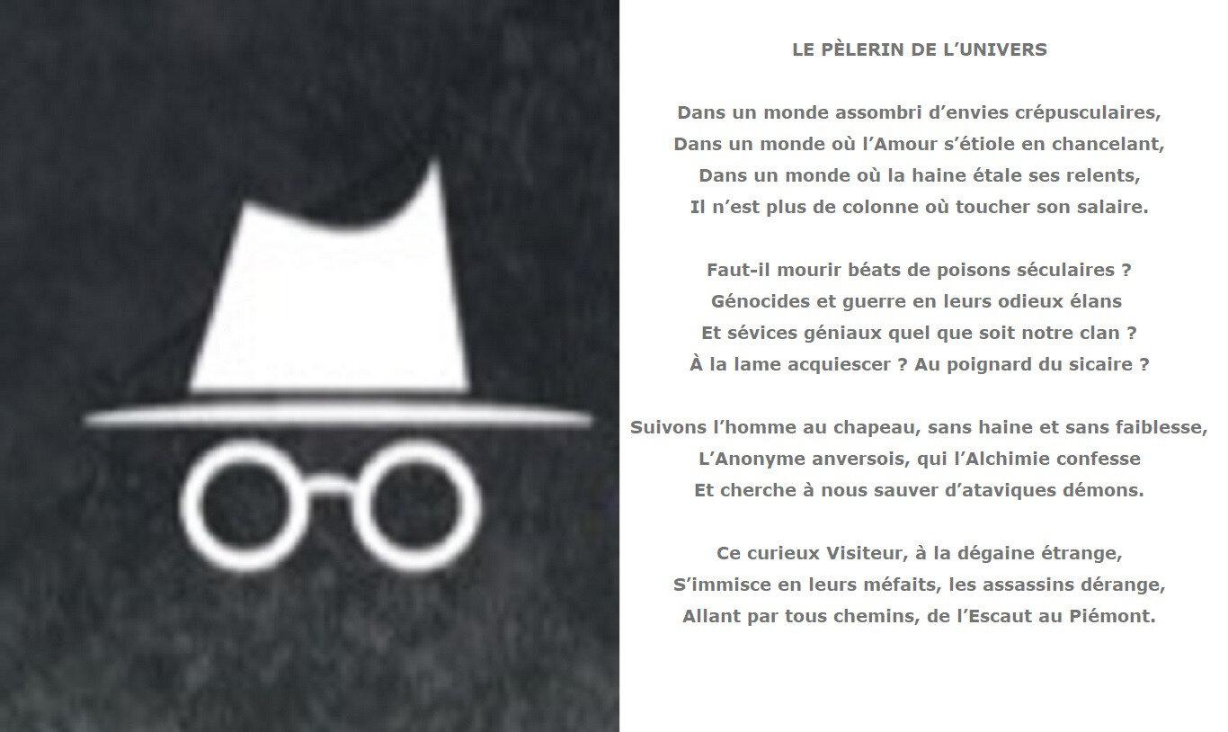 Autour de V.I.T.R.I.O.L, sonnet: Le pèlerin de l'univers