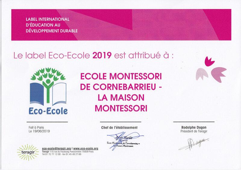 label éco-école 2019