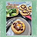 Pain pizza au boeuf hâché et à l'oeuf