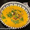 Soupe d'oranges sanguines et de carottes