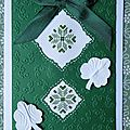 Scrapbooking : cartes : bouquet, papillon, broderie