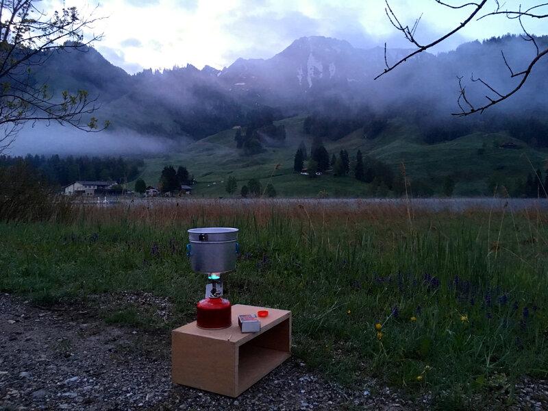 petit thé matinal au lac Noir
