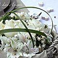Décoration de table lin, romantique
