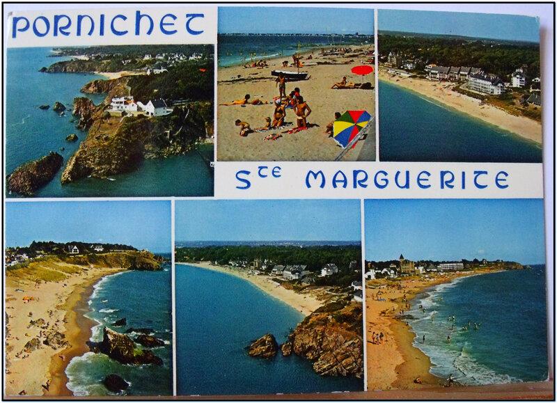 Pornichet - plage Ste Marguerite - datée 1977