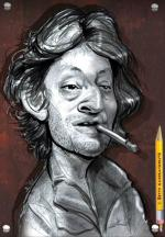 caricature serge gainsbourg caricaturiste Betty caricature de star vip