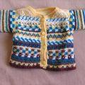 gilet d'après modèle tricot adapté crochet